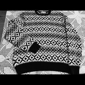 Michael Kors Black and White Sweater